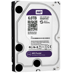 Western Digital WD60PURX Purple 6TB 64MB Cache Internal Hard Drive